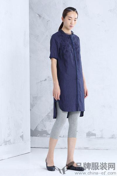 布景女装2017夏季长款衬衫