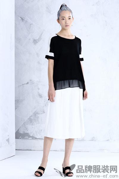 布景女装2017夏季雪纺衫