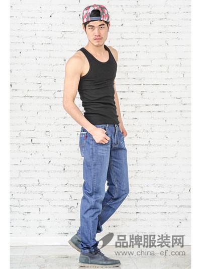 男士 修身牛仔 长裤 美酷思牛仔 2017新款