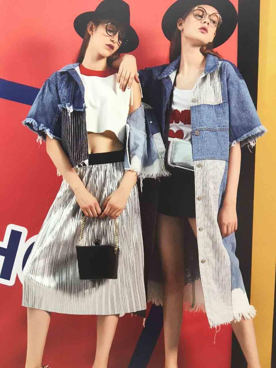 广州一线品牌YDG、U+2017春,专柜潮牌女装批发