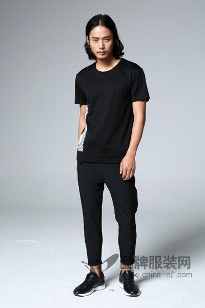 1943S/PREWESTERN男装2017夏季欧美极简T恤