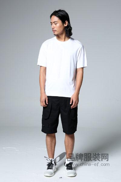 1943S/PREWESTERN男装2017夏季极简街头T恤