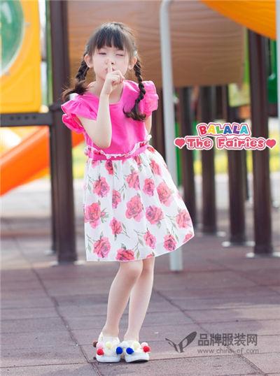 巴啦啦小魔仙童装2017夏季公主连衣裙