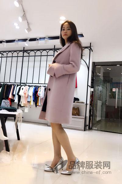 音爱美女装2017秋季快时尚女神毛呢外套