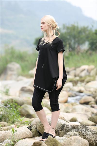JISUO女装2017夏季文艺范街头范套装