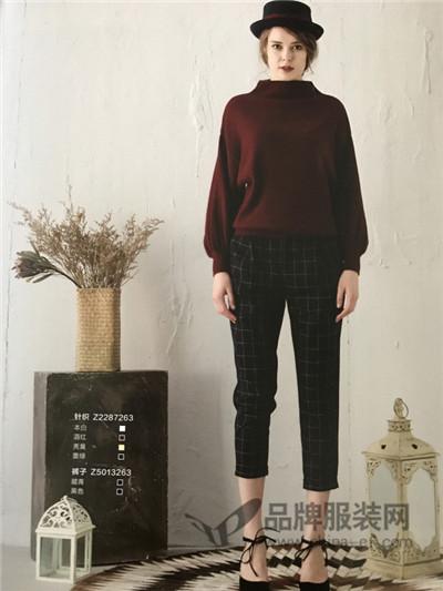 藏九女装2017秋冬休闲蝙蝠袖毛衣