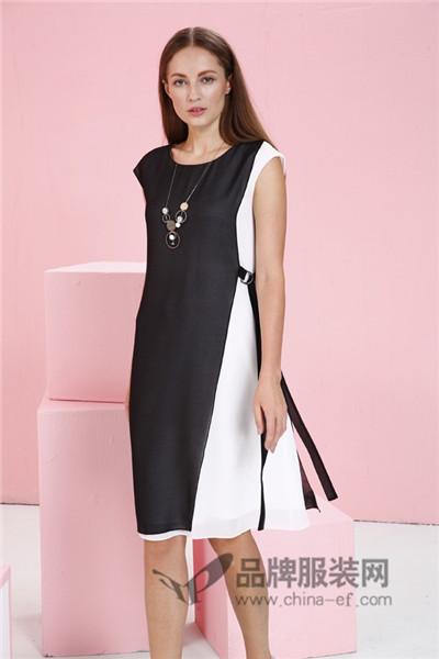 JAOBOO 乔帛女装2017夏季中国风系带连衣裙