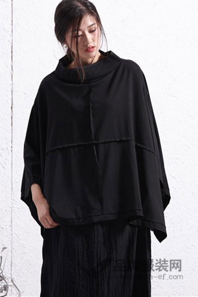 简丹枫鹭女装2017秋季时尚蝙蝠连衣裙