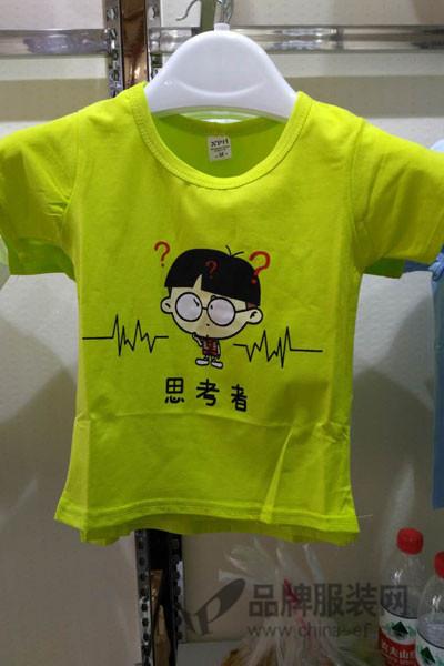 鹿人纳雅童装2017夏季纯棉可爱T恤
