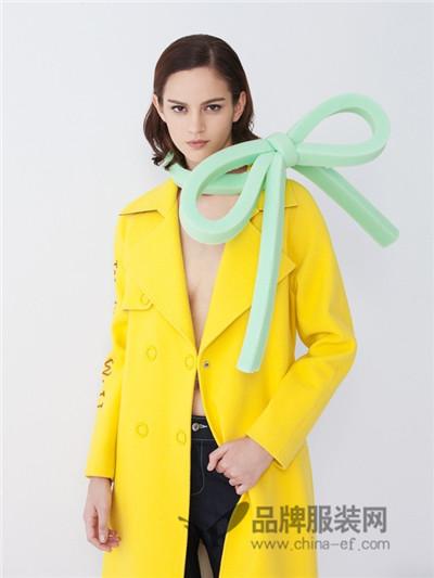 BELLO SZ �_素女装2017秋冬韩版长款毛呢外套