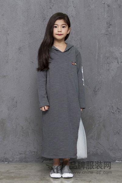 诺麦然童装2017秋季韩版中长款卫衣