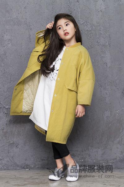 诺麦然童装2017秋季韩版中长款棉衣