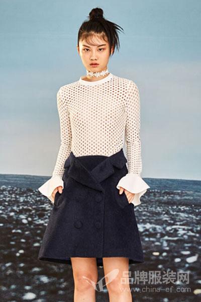 YE'SbyYESIR官方直营原创深海蓝西装造型羊毛半裙 S