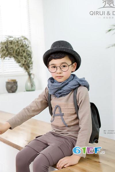 琦瑞德泽童装2017秋冬纯棉T恤