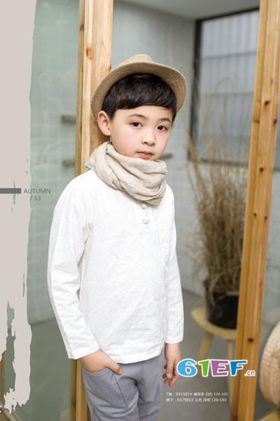 琦瑞德泽童装2017秋冬棉麻T恤