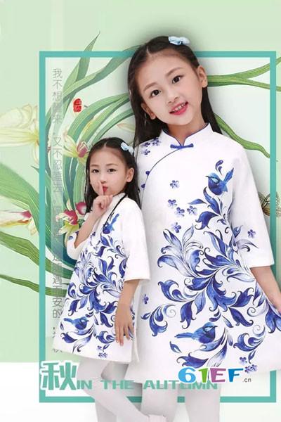 汪小荷童装2017秋季复古中国风旗袍