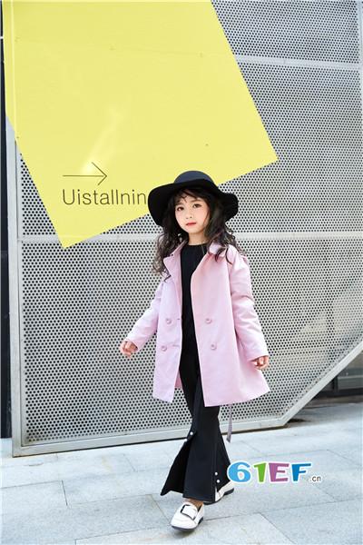 E童依派童装2017秋季公主中长款风衣