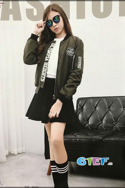 皮咖丘青少年装2017秋冬韩版棒球服外套