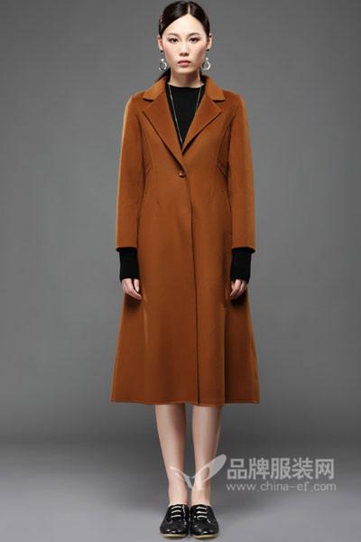 LAWRENCE女装2017秋冬韩版中长款毛呢外套