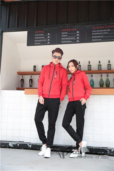 甜蜜风休闲2017秋季运动情侣装套装