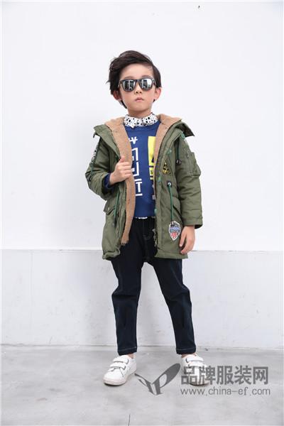 小马嘟嘟童装2017秋季韩版中长款棉外套