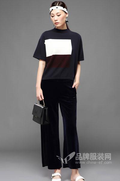 KAIBOLEI女装2017秋冬时尚短袖上衣