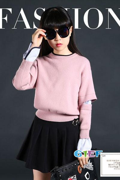 米·咪·咔(MIMCAR)童装2017秋季潮童针织毛衣