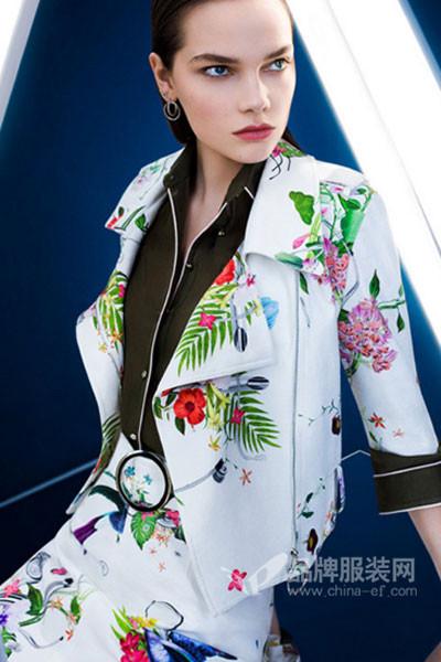 衣佰芬品牌女装女装2017秋冬吊带印花外套