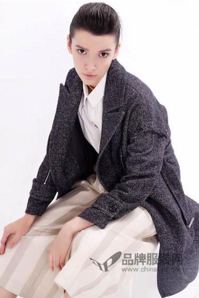 单向度DANXIANGDU女装2017秋季韩版中长款呢大衣