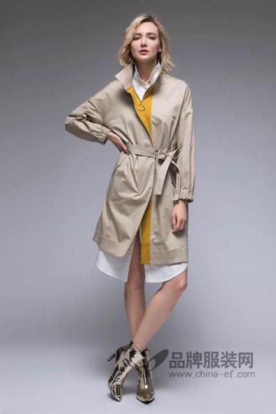 单向度DANXIANGDU女装2017秋季时尚长款风衣