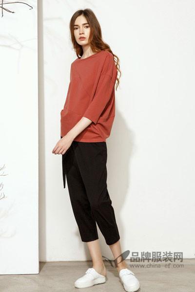 撒尼女装2017秋冬百搭宽松T恤