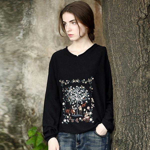 杰然不同大码女装针织衫不一样纯棉线衫