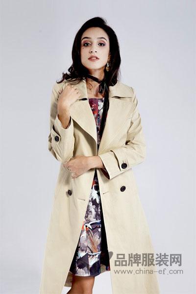 Gooyen古源女装2017秋冬个性时尚正式女外套