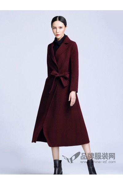依达利・米兰女装2017秋冬时尚中长款毛呢外套