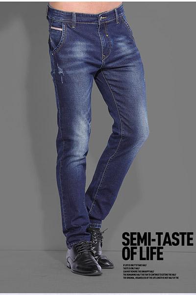 K30牛仔2017冬季新品舒适透气修身男士休闲牛仔裤