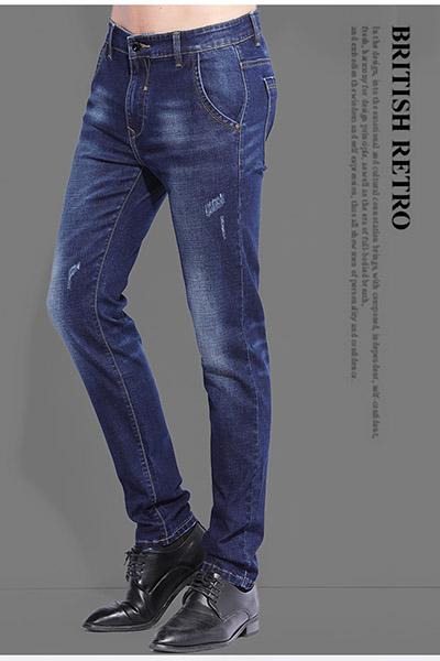 K30男装2017冬季新品透气舒适修身舒适男士休闲牛仔裤