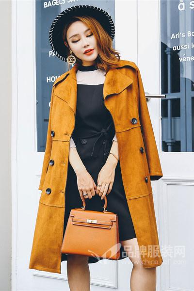酷芭芭KBB女装2017秋冬时尚中长款外套