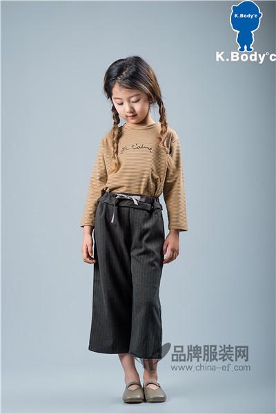 K.Body℃/宝贝衣舍童装2017秋冬条纹阔腿裤