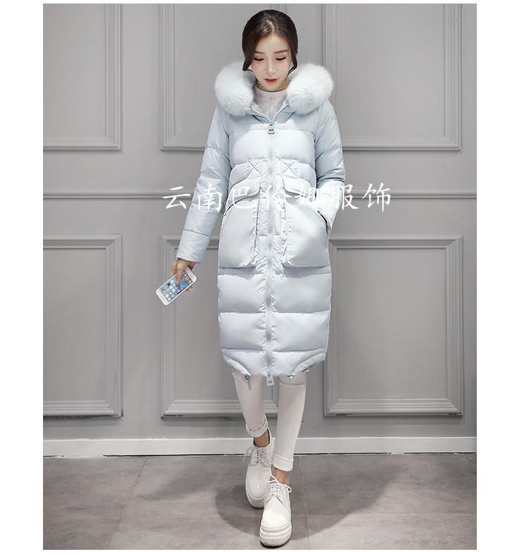 百合羽绒服女装2017冬季新品
