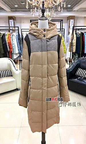 一布百布女装品牌棉服女装2017冬季新品