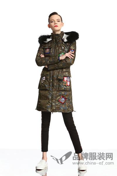 维斯提诺女装中长款外套2017秋季