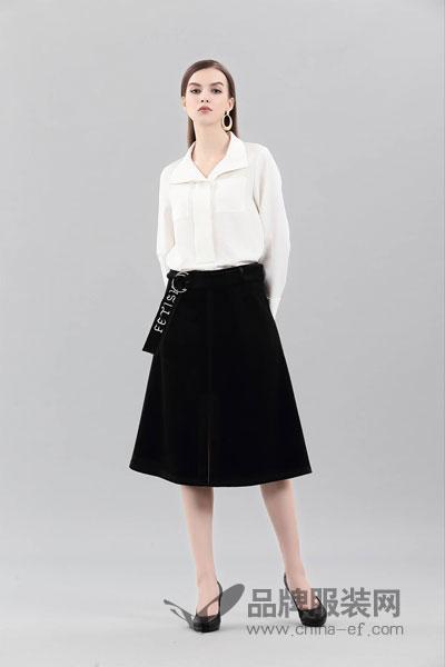 艾丽哲女装2017冬季时尚简约雪纺上衣