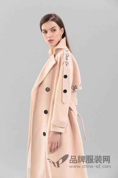 艾丽哲女装2017冬季欧式大气中长款呢子大衣