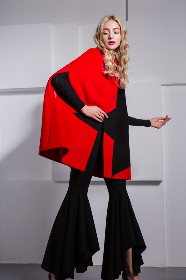 杭州品牌欧麦娅17冬装大衣折扣女装尾货库存批发走份