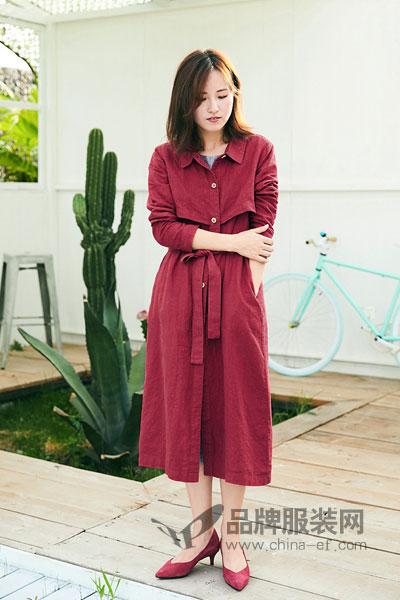 司合伊女装2017秋冬长袖连衣裙