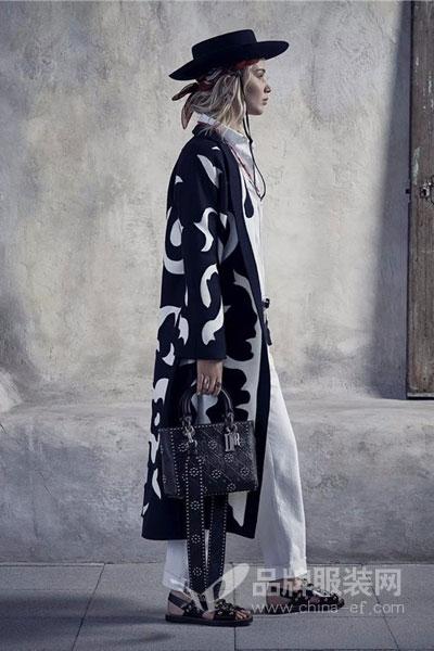 迪奥女装2018春夏时尚个性中长款外套