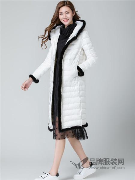 名妹女装2017秋冬羽绒服韩版修身长款羽绒加厚时尚保暖外套