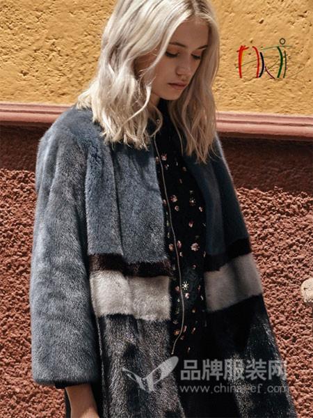 雅迪斯女装2017秋冬皮草 貂皮大衣女整貂中长款水貂皮草外套