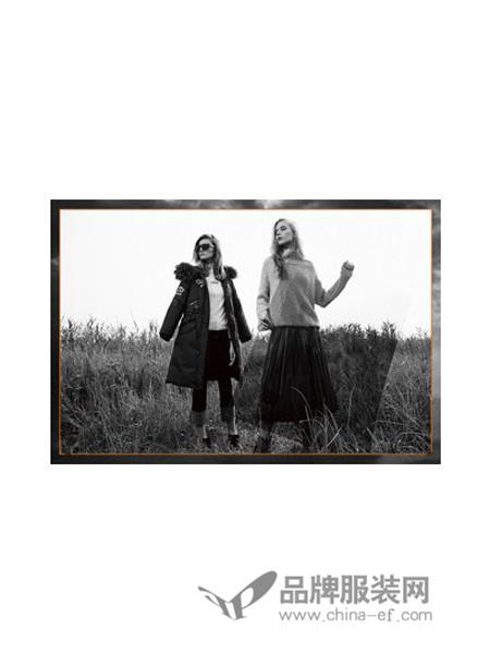 卡嘉茜女装2017冬季中长款外套快时尚女神