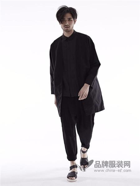 希尼顿男装2017秋冬个性休闲中长外套